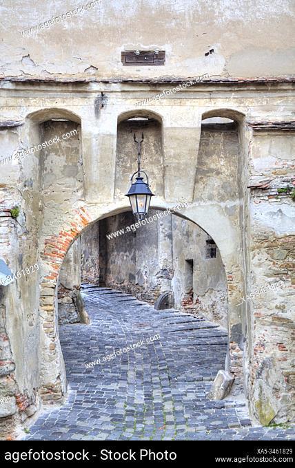 Clock Tower Gate, Sighisoara, UNESCO World Heritage Site, Mures County, Transylvania Region, Romania