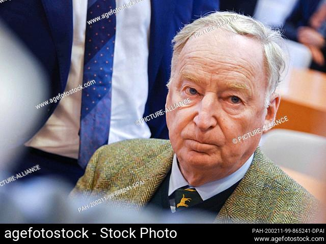11 February 2020, Baden-Wuerttemberg, Karlsruhe: Alexander Gauland, head of the AfD parliamentary group in the Bundestag