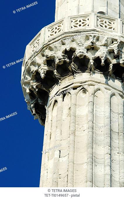 Turkey, Istanbul, Minaret of Blue Mosque
