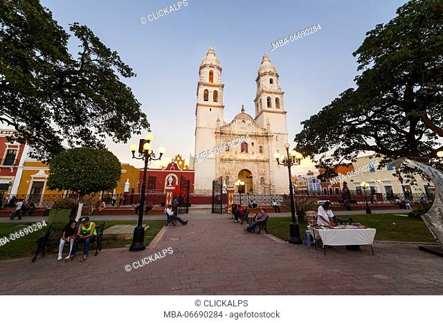 Cathedral of Campeche, State of Campeche, Mexico