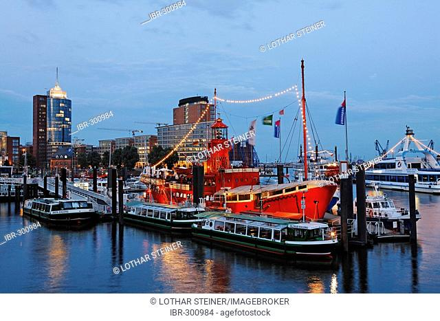 Lightship at Marina, Hamburg Harbour, Germany