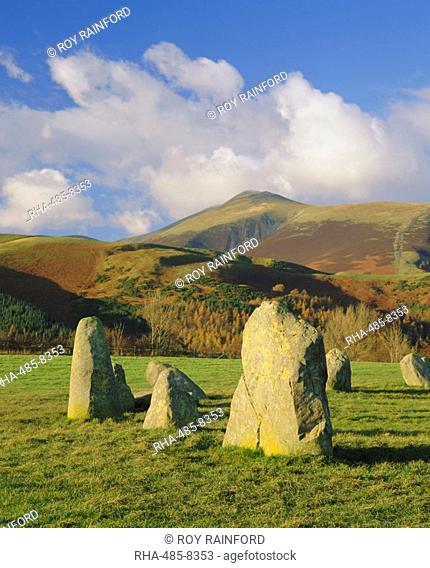 The prehistoric Castlerigg Stone Circle, Lake District, Cumbria, England, UK