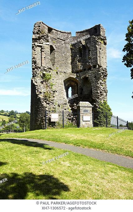 Crickhowel Castle, Wales, UK