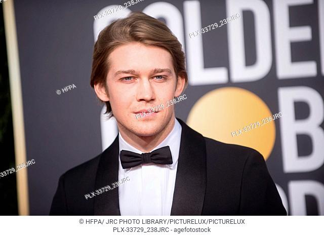 Joe Alwyn attends the 76th Annual Golden Globe Awards at the Beverly Hilton in Beverly Hills, CA on Sunday, January 6, 2019