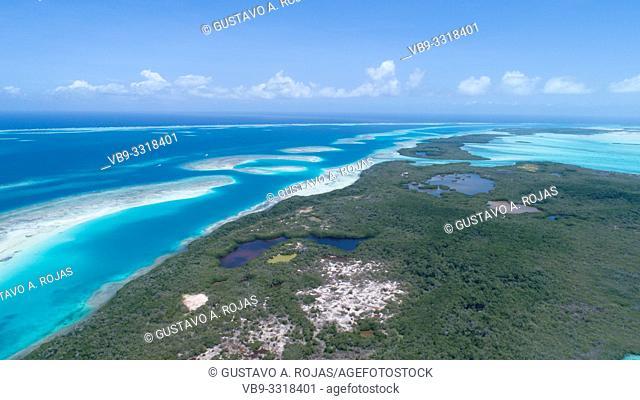 aerial view simea los roques venezuela