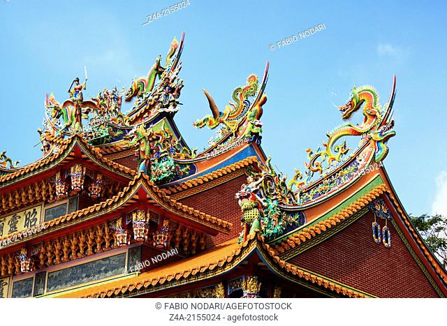 Taoist temple rooftop, Taiwan