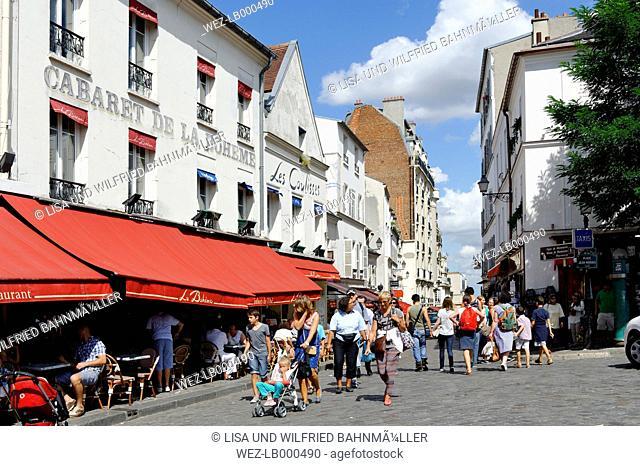 France, Paris, 18th arrondissement, Montmartre, view to Rue du Mont Cenis