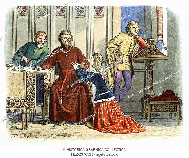 Queen Anne intercedes with Gloucester and Arundel for Sir Simon de Burley, 1388 (1864). The Earls of Gloucester and Arundel were two of the five powerful nobles...