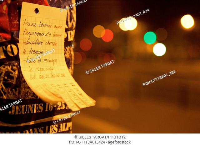 france, ile de france, paris, 5e arrondissement, boulevard saint michel,detail , nuit, matin Photo Gilles Targat