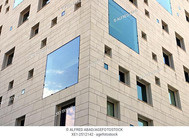 glazed windows, residential building, Nantes, France