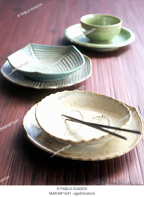 table, Japanese dishes