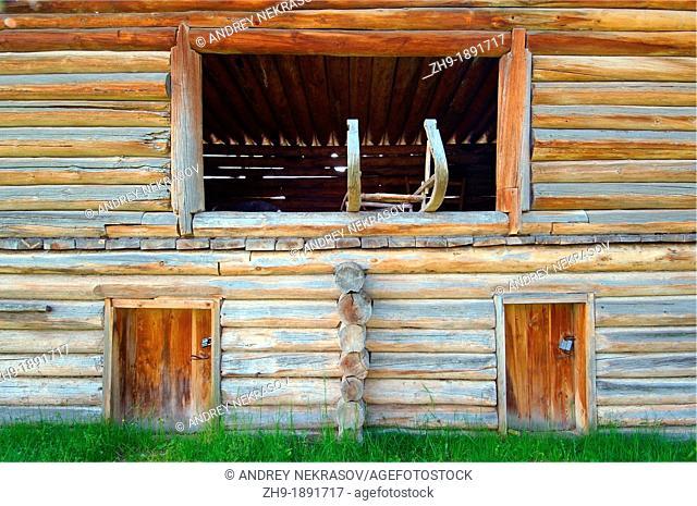 Country wooden estate  'Taltsa's' Talzy - Irkutsk architectural and ethnographic museum  Baikal, Siberia, Russian Federation