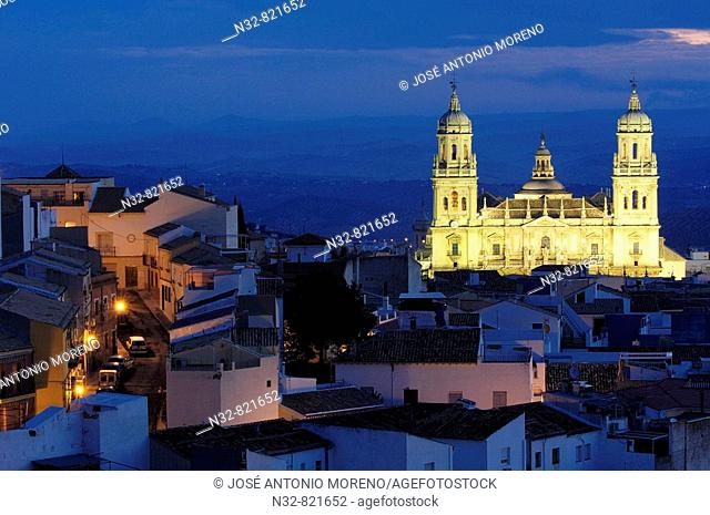 Cathedral at nith Jaen Andalusia Spain