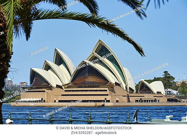 Landscape of the Sydney Opera House in spring, Sydney, New South Wales, Australia, Oceania