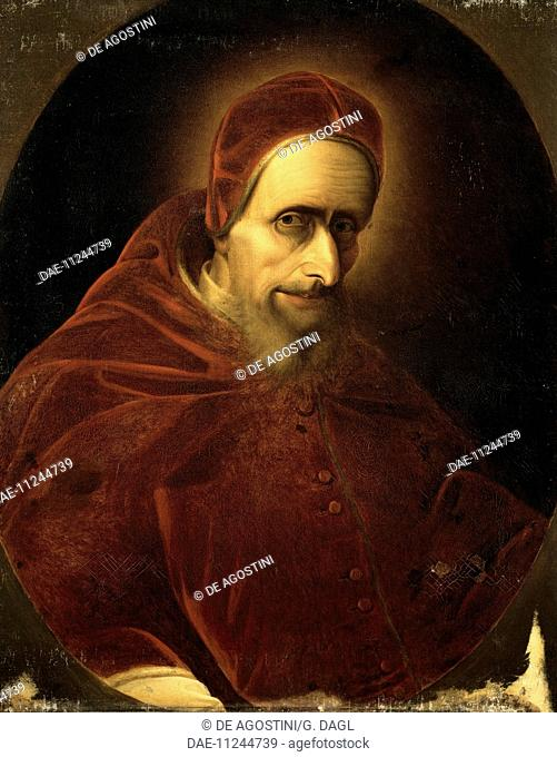 Portrait of Pope Pius V (Antonio Ghislieri, Bosco Marengo, 1504-Rome, 1572).  Versailles, Château De Versailles