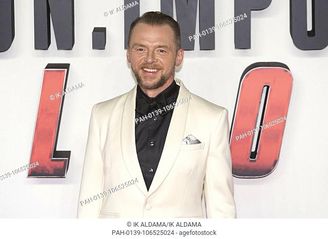 Simon Pegg attends MISSION: IMPOSSIBLE - FALLOUT , UK Premiere. London, UK. 13/07/2018 | usage worldwide