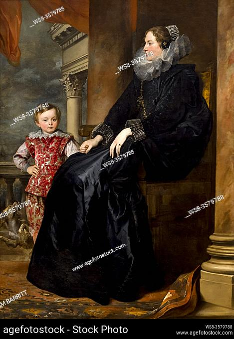 A Genoese Noblewoman and Her Son, Sir Anthony van Dyck, circa 1626, National Gallery of Art, Washington DC, USA, North America