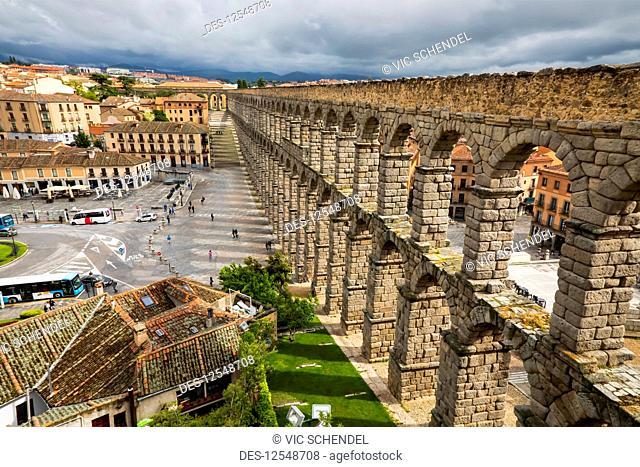 Aqueduct of Segovia; Segovia, Castile-Leon, Spain