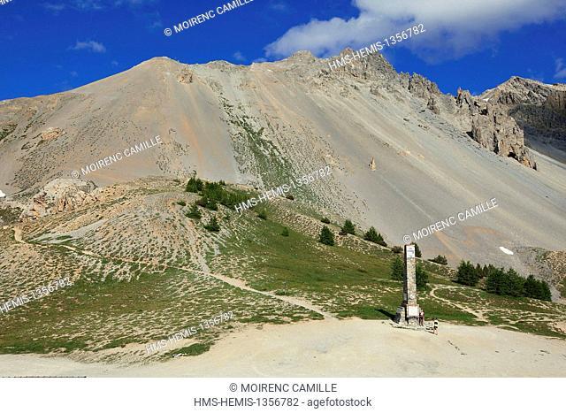 France, Hautes Alpes, Parc Naturel Regional du Queyras (Natural regional park of Queyras), Col d'Izoard 2360 m