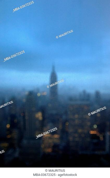 The USA, New York City, town, architecture, dusk, North America