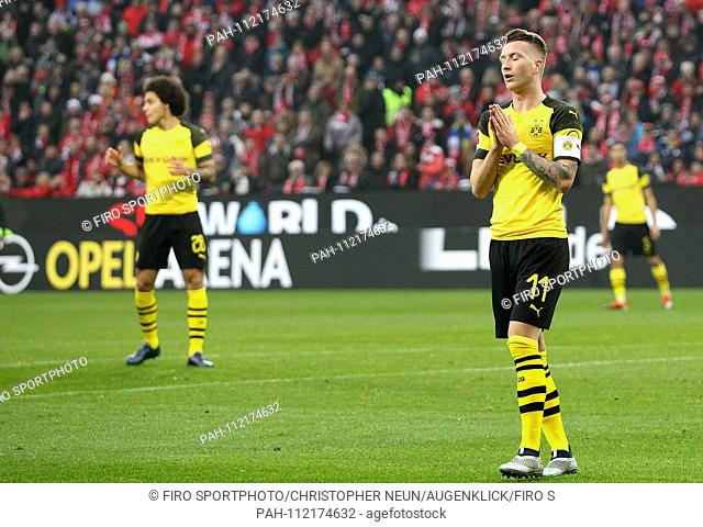 firo: 24.11.2018, football, 1.Bundesliga, season 2018/2019, FSV FSV FSV Mainz 05 - Borussia Dortmund, Marco REUS, BVB Borussia Dortmund, full figure, exhaustion