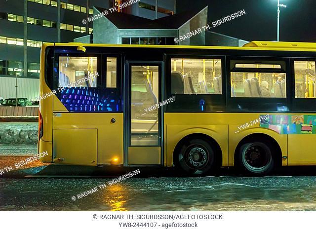 Public city bus, Reykjavik, Iceland