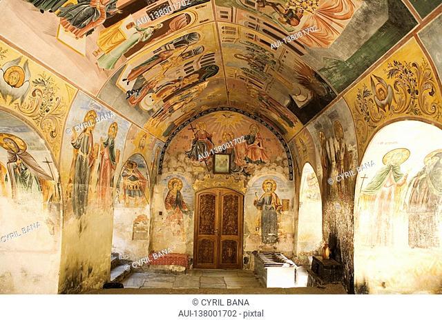 Bulgaria - North-West Region - Rhodope Mountains - Approximately Plovdiv - Batchkovo Monastery - Frescoes