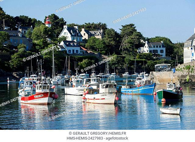 France, Finistere, Clohars Carnoet, Doelan fishing port