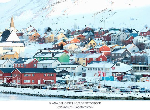 Scenery at Kjollefjord Norway