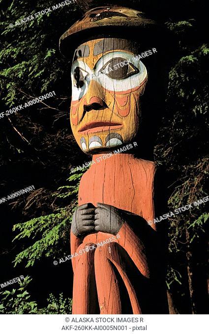 Native Totem Pole Ketchikan SE Alaska