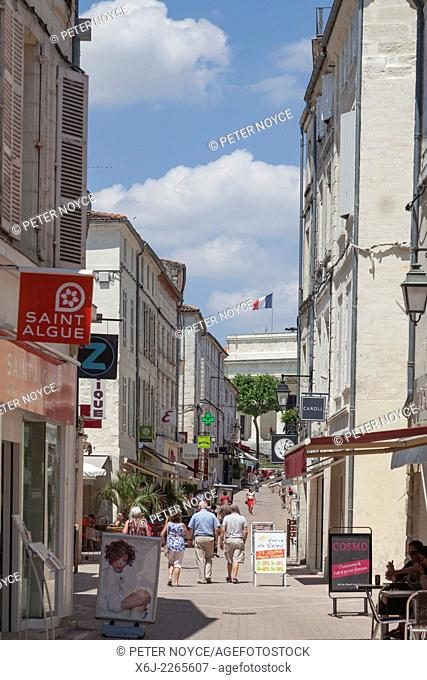 Pedestrian street in Saintes France