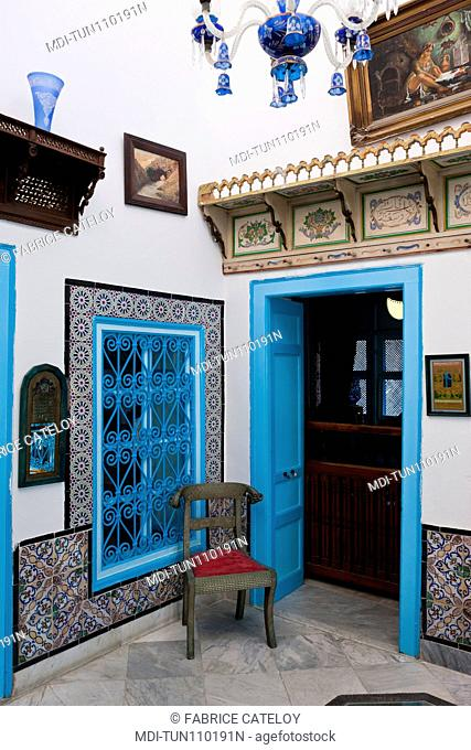 Tunisia - Sidi Bou Said - House Darel-Annabi - 1st floor of the house