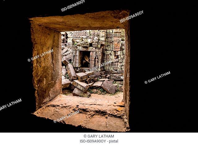 Ta Prohm Temple ruins at Angkor Wat, Siem Reap, Cambodia