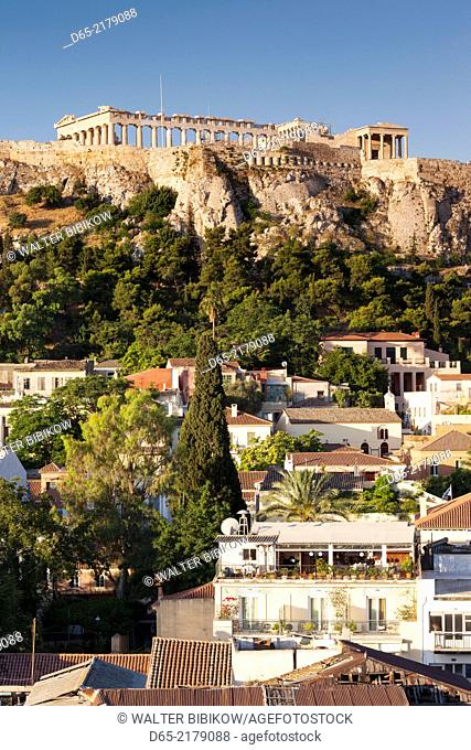 Greece, Central Greece Region, Athens, Acropolis, elevated view, dawn