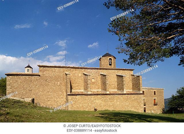 Church of Mare de Deu de Lord, Sant Llorenç de Morunys, Solsones, Lledia province, Catalonia, Spain