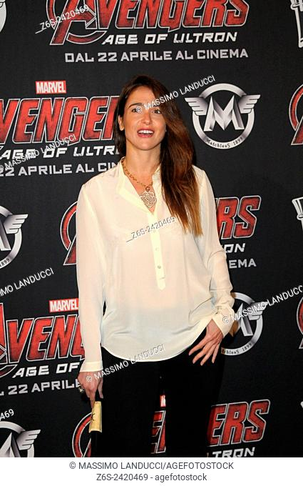 Eleonora Sergio ; Sergio; actress ; celebrities; 2015;rome; italy;event; red carpet ; avengers, age of ultron