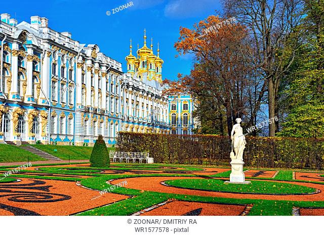 Catherine palace and park in Pushkin
