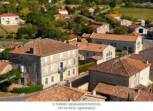 France, Gers (32), village of La Romieu on the way of Saint Jacques de Compostelle