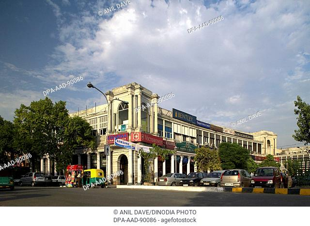 Old Buildings at Connaught Place, New Delhi, India