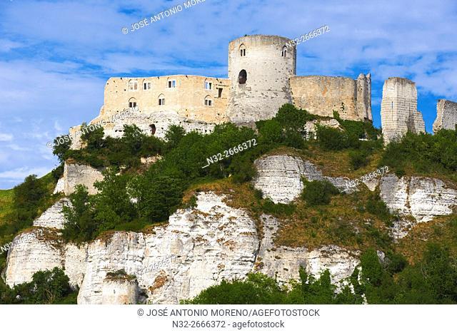Les Andelys, Seine river, Galliard Castle, Château-Gaillard, Seine valley, Normandy, France