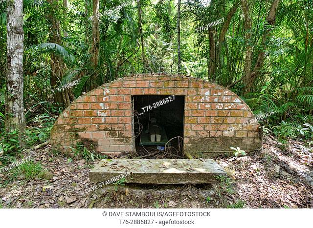 Solitary confinement spot of the old prison camp at Ta Lo Wow, Ko Tarutao Island, Thailand