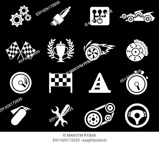 Racing simply symbols for web and user interface