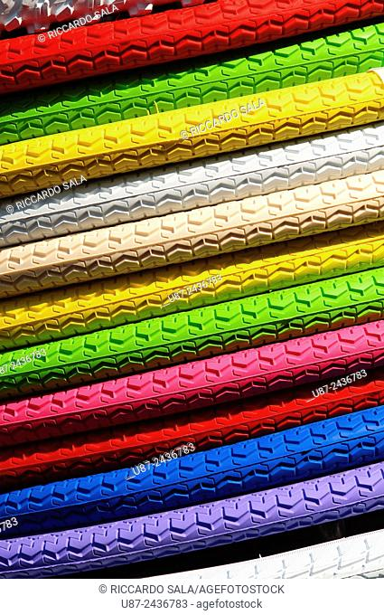 Closeup of Colored Tires. . .