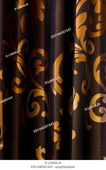 Luxury Curtain - black and gold background