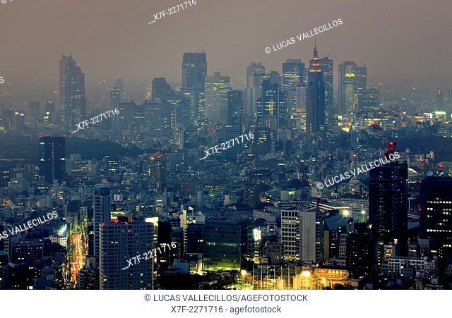 skyline of Shinjuku.Tokyo city, Japan, Asia