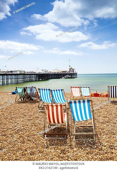 Hammocks and Pier in Brighton, United Kingdom