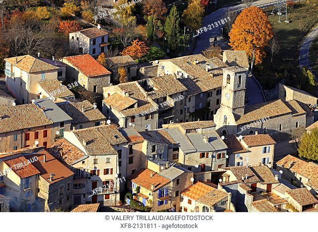 Village of Briançonnet, Alpes-Maritimes, Préalpes d'Azur regional natural park, Provence-Alpes-Côte d'Azur, France