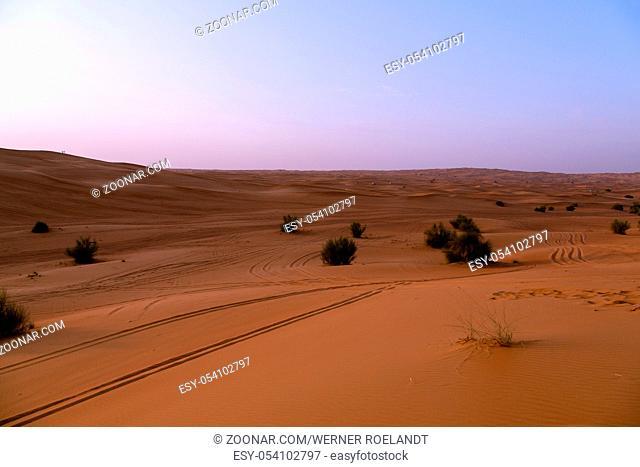 The Red sand of the Pink Rock Desert, Sharjah, Dubai, UAE
