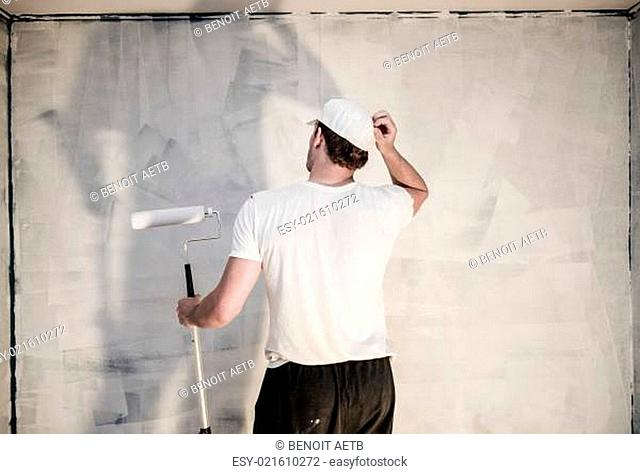 Men Looking at the Painted Wall