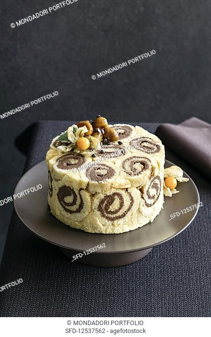 Chestnut and chocolate zuccotto